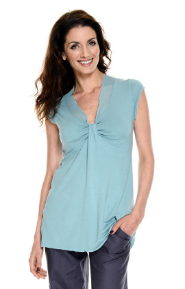 Short Sleeve Maternity Drape Top