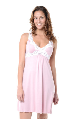 pretty in pink maternity nightie