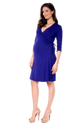 Angelina maternity wrap dress
