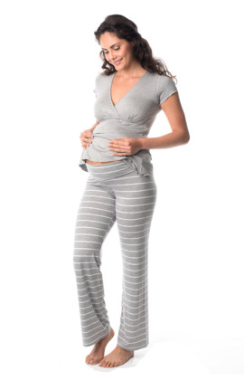 Striped maternity pyjama pant