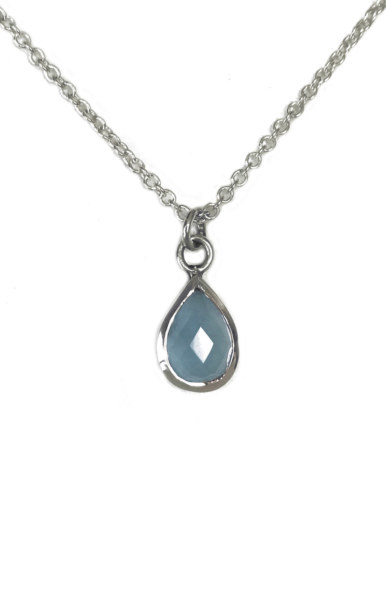 Chalcedony Pendants Tear Drop Necklace