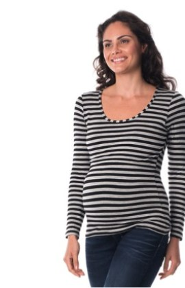 striped annabella maternity & breastfeeding tee