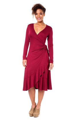 winter maternity salsa dress