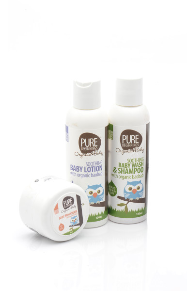 pure beginnings organic baby set
