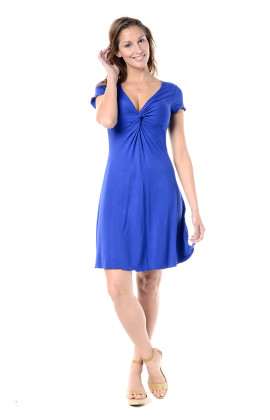 Gabriella short sleeve twist dress