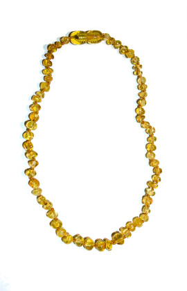 Baltic amber teething necklace (Honey)