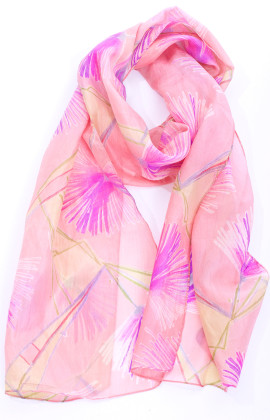 summer blush silk scarf