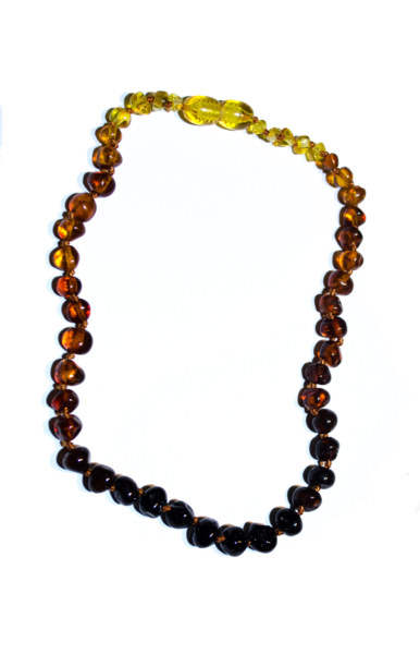 Baltic amber teething necklace (Rainbow)
