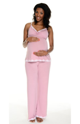 summer vintage maternity & breastfeeding PJ's