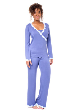 winter vintage maternity & breastfeeding pj's