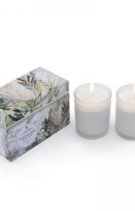 Madame Luna Botanical Glass Candle  – Coconut Fig (Set of 2)